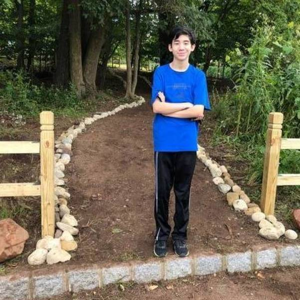 Short Hills Eagle Scout Project Creates Path Between School and Church