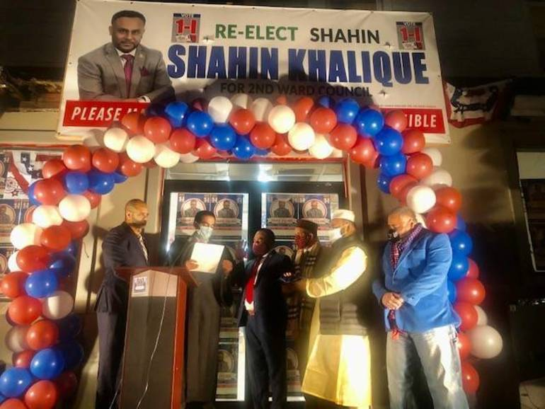 Khalique Completes Return to City Council with Swearing in