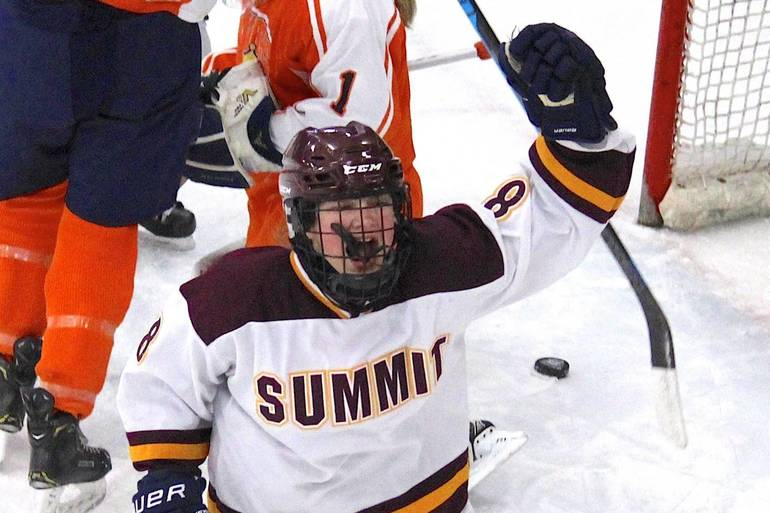Puskar Scores Tying, Winning Goals as Summit H.S. Girls Hockey Heads to State Final with 7-6 Shootout Win Over Trinity Hall