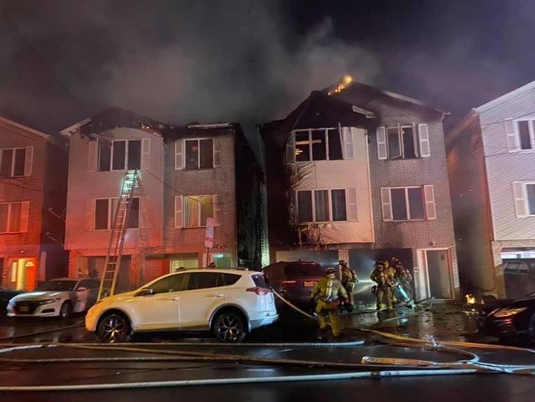 Flames Rip Through Three Jersey City Homes Overnight. 15 Residents Displaced