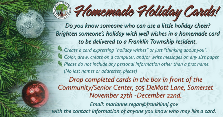 Franklin Recreation's Homemade Holiday Cards Campaign
