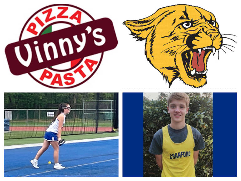 Vinny's Pizza & Pasta Cranford Senior Athletes of the Week: Delaney Bertrand& Christian Hulse