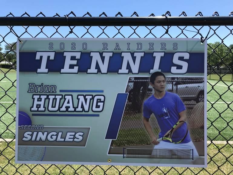 Scotch Plains-Fanwood tennis player Brian Huang