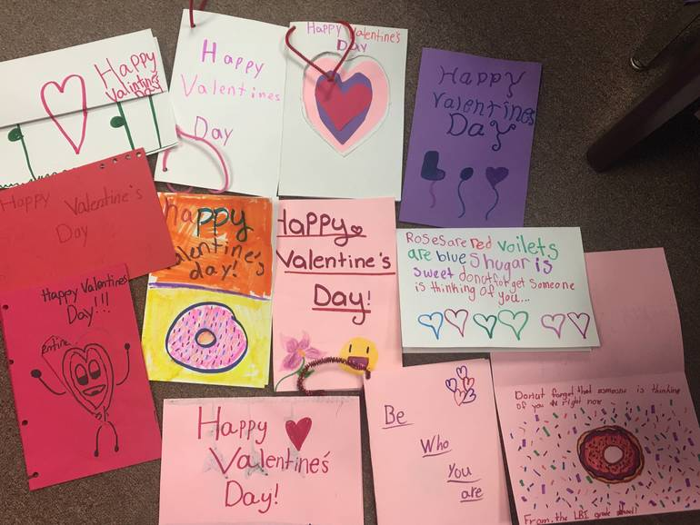 Valentine's Day Cards from Students at LBI School