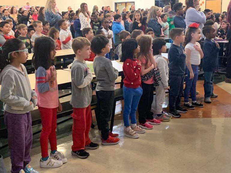 Roosevelt School's Patriotic Performance Brings Joy to Local Veterans