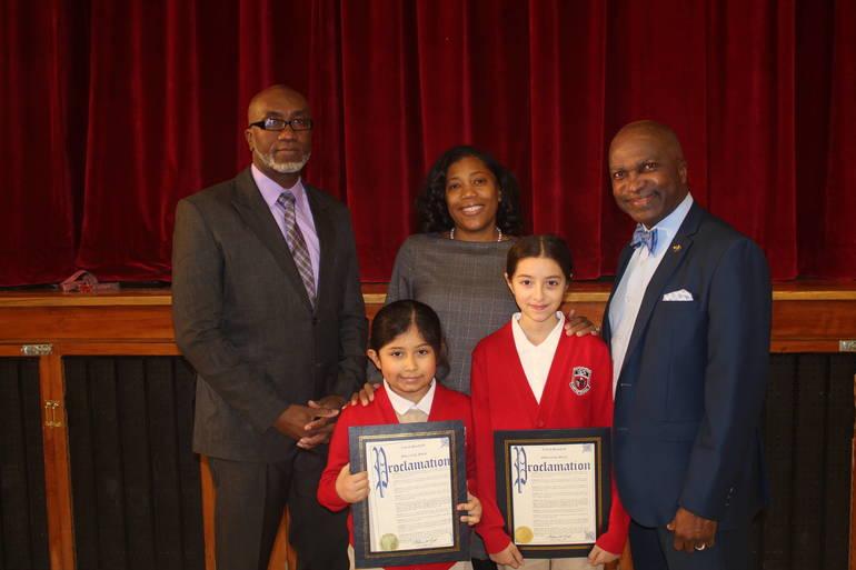 Plainfield Mayor Congratulates The Queen City Academy MLK Essay Contest Winners