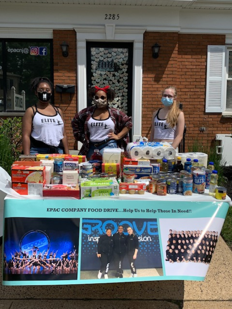 Elite Performing Arts Center food drive in Scotch Plains helps people in need of food.