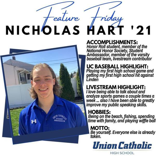 Nick Hart Has Made a Huge Impact On The Union Catholic Community