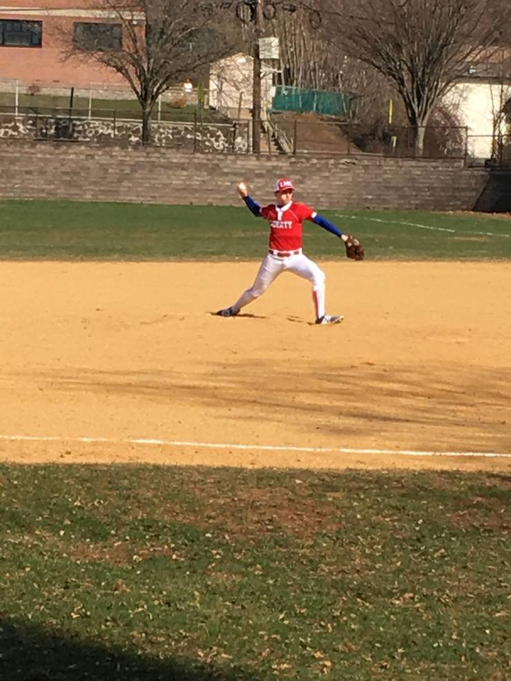 Matt pitching for Liberty Middle School