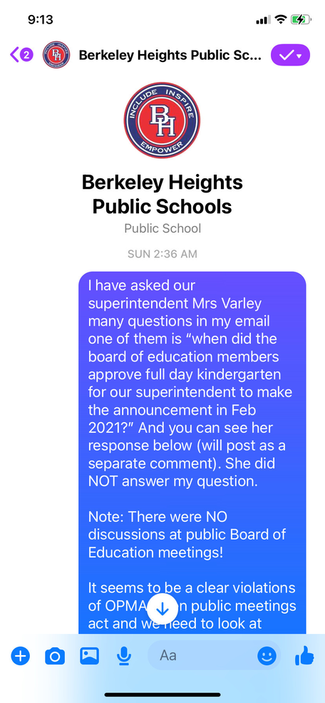 More Confusing Communication for the Berkeley Heights School District on Student Displacement