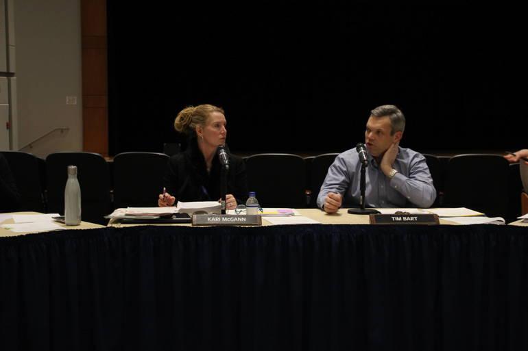 Superintendent Kari McGann (left)