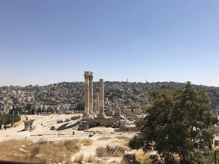 View of the Citadel and Roman Amphitheater in Jordan