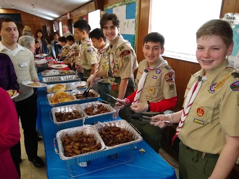 Troop 104 Scouts Serve a Delicious Pancake Breakfast
