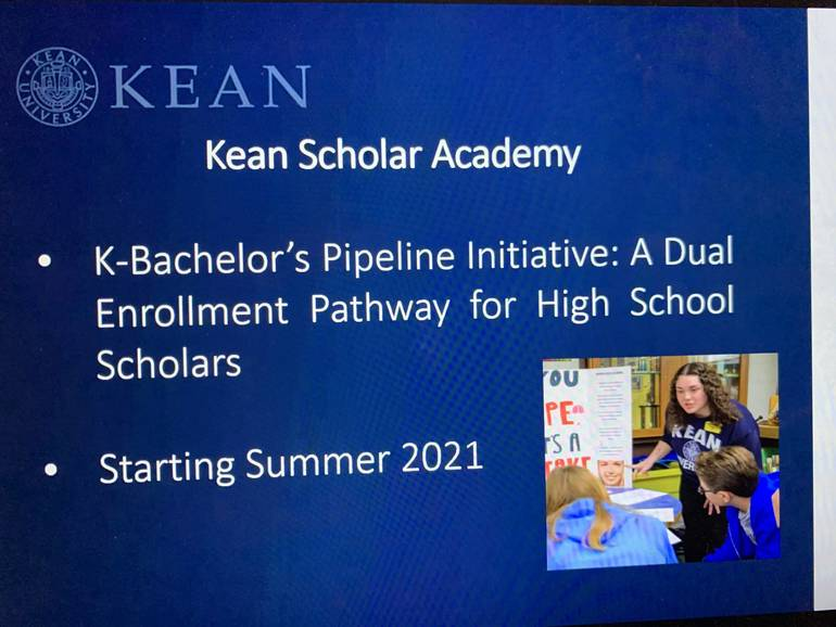 Kean University Dual Enrollment Program Presented at Plainfield's Board of Ed Business Meeting