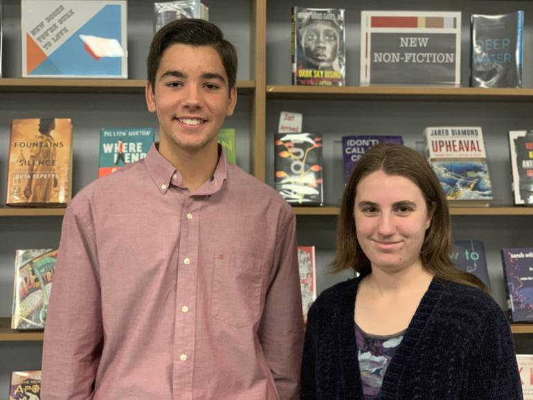 """TJ Baylock and Josie Cerino are Scotch Plains-Fanwood High School's """"Students of the Month"""" for October."""