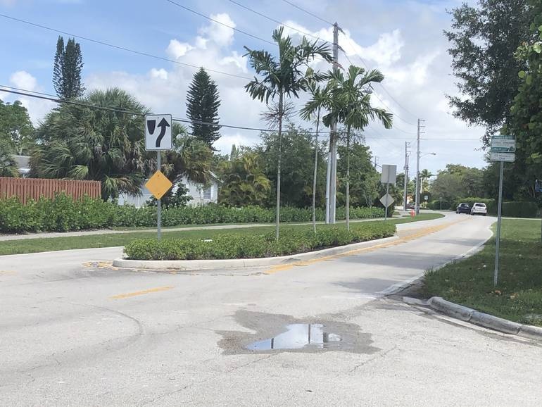 Part of Coral Hills Drive in Coral Springs