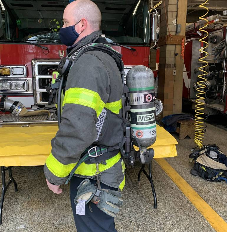 Union Firefighters Train with New Breathing Apparatus