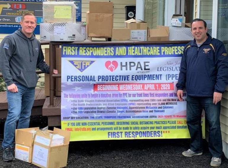 Rep. Chris Smith Works with NJ State Troopers and NJ Nurses Unions to Obtain PPE Donations