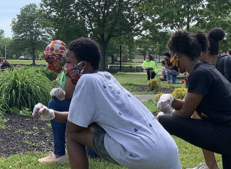 Peaceful Rally in Spring Lake Park Organized by South Plainfield High School Freshman Calls for Justice, Awareness and Unity