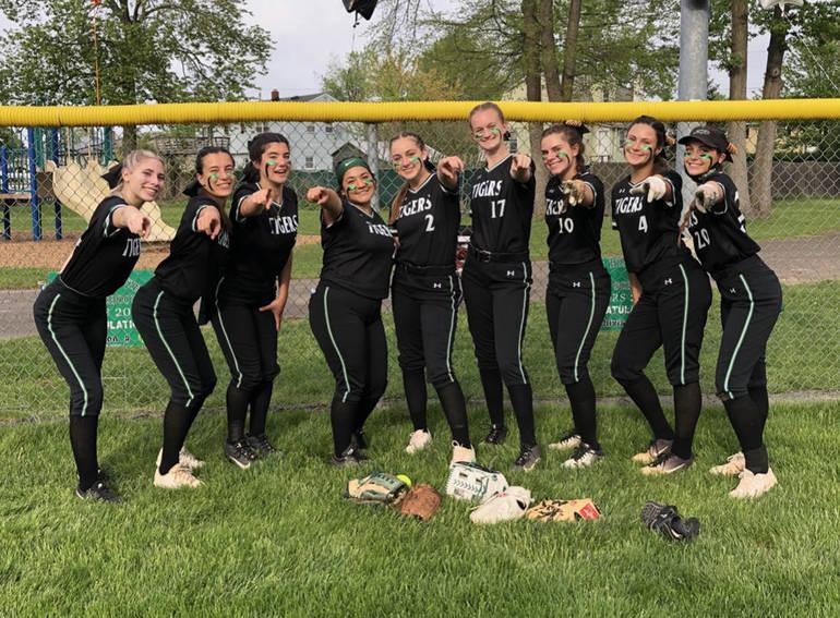 South Plainfield High School Varsity Softball Seniors Recognized and Win 18-0