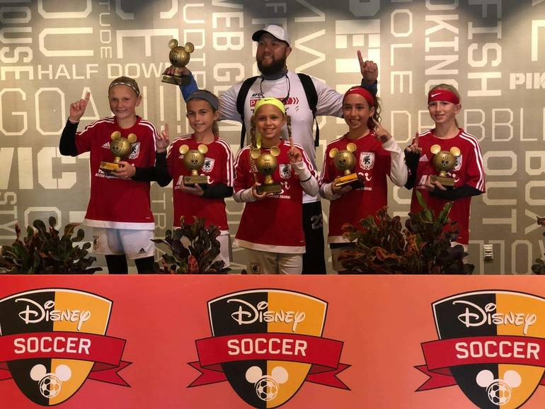 Champions of Disney's 3v3 Soccer Tournament