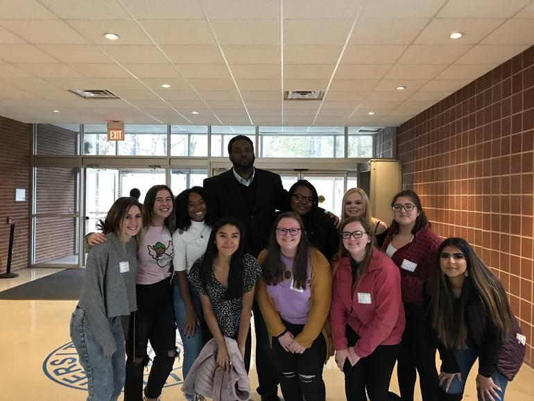 Gov. Livingston Students meet Rwandan Genocide Survivor