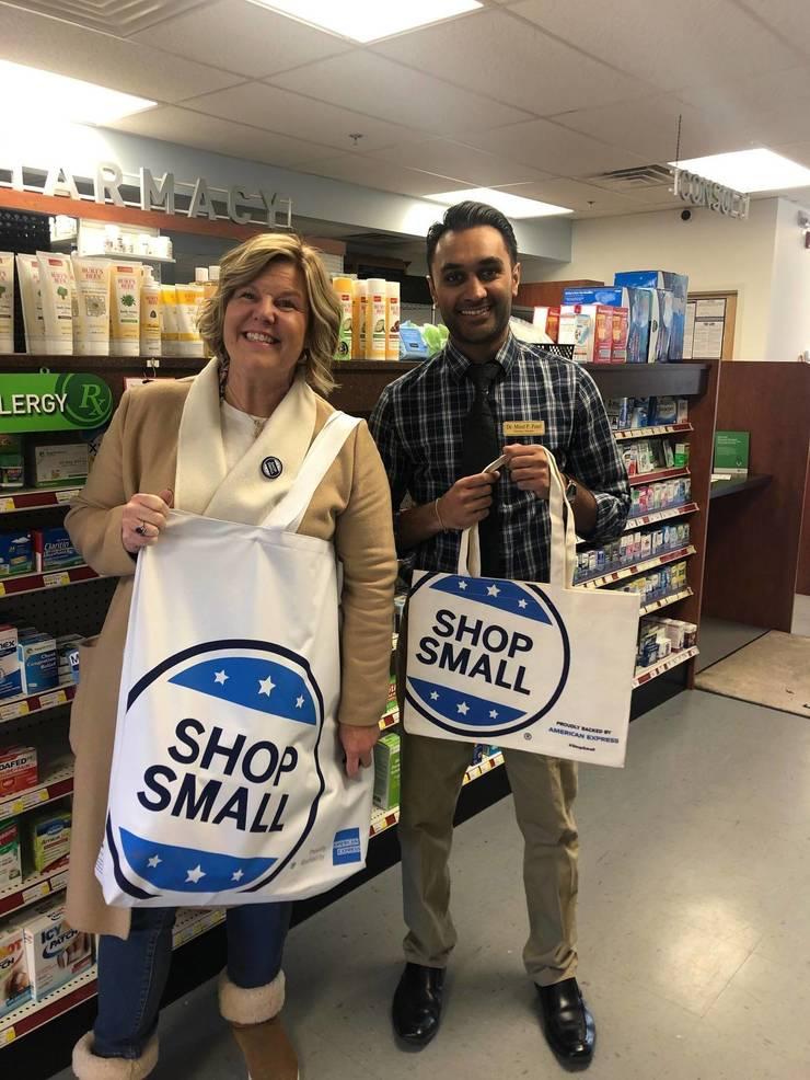 Fanwood Mayor Colleen Mahr shops local on Small Business Saturday (Nov. 30, 2019).