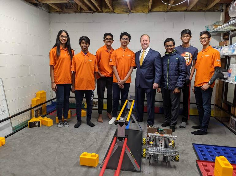 Parsippany's Krypton Warriors Compete in Robotics Competition