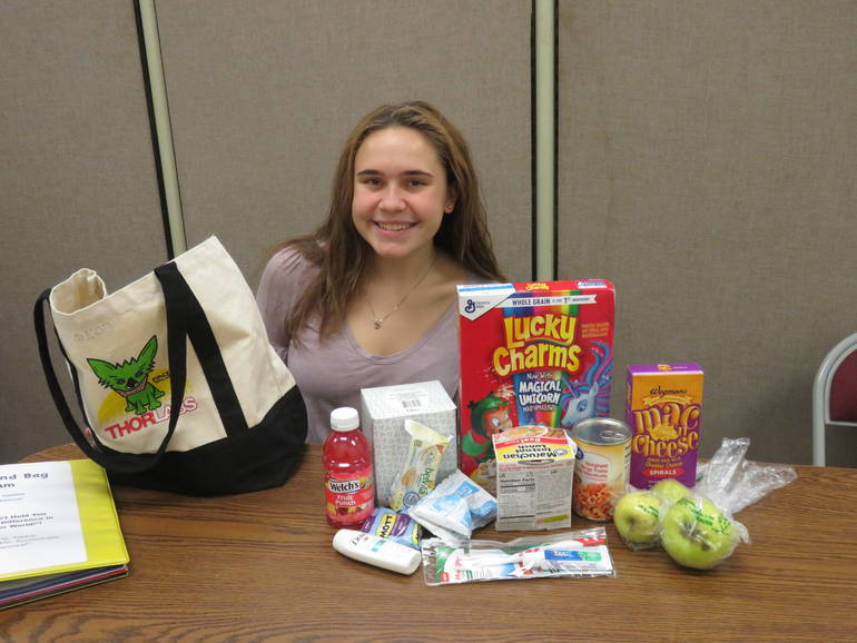 "Newton High School Junior Helps Community Through ""Weekend Bags"" Program"