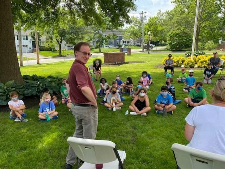 Washington School Third-Graders Question Chatham Borough Mayor Kobylarz at Local Government Event