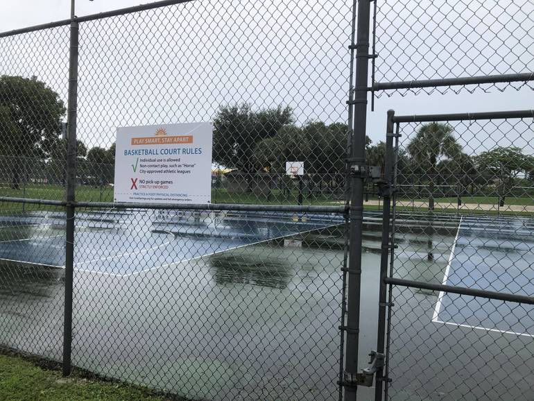Coral Springs Closes Basketball Courts At Park Following Coronavirus Safety Violations