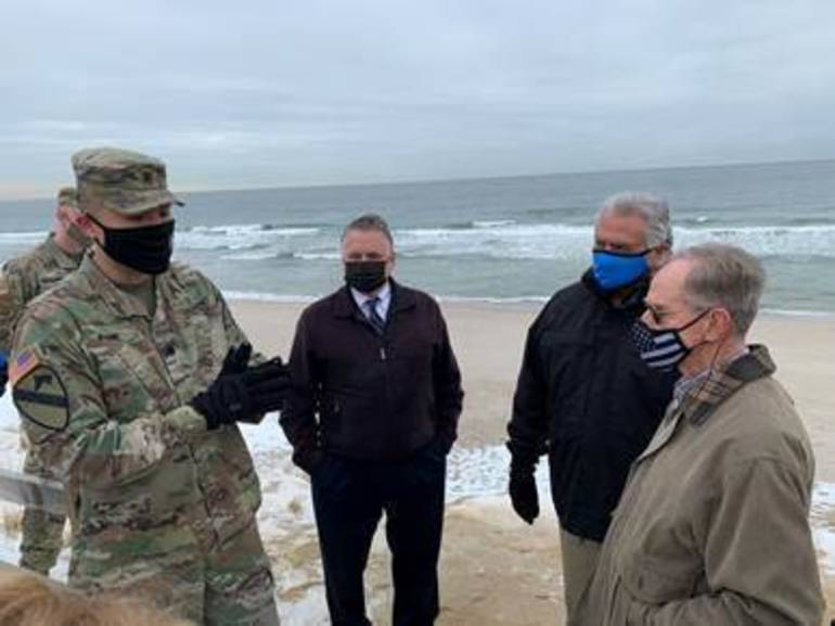 High level meeting in Bay Head focuses on severe and catastrophic beach erosion.