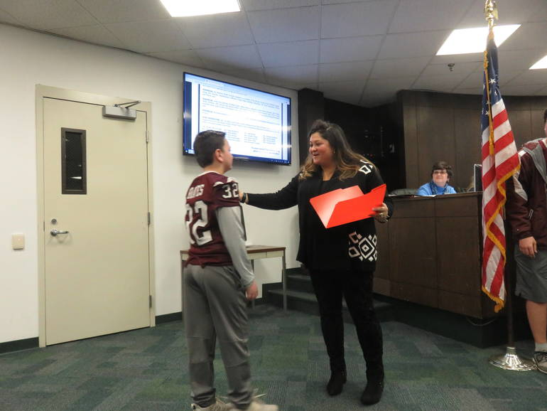 Newton Youth Football Team Recognized For Undefeated Season