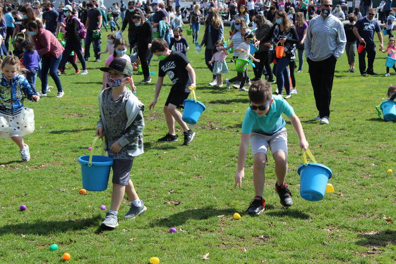 Clark Kids Visit the Easter Bunny and Hunt for Eggs at Annual Gathering