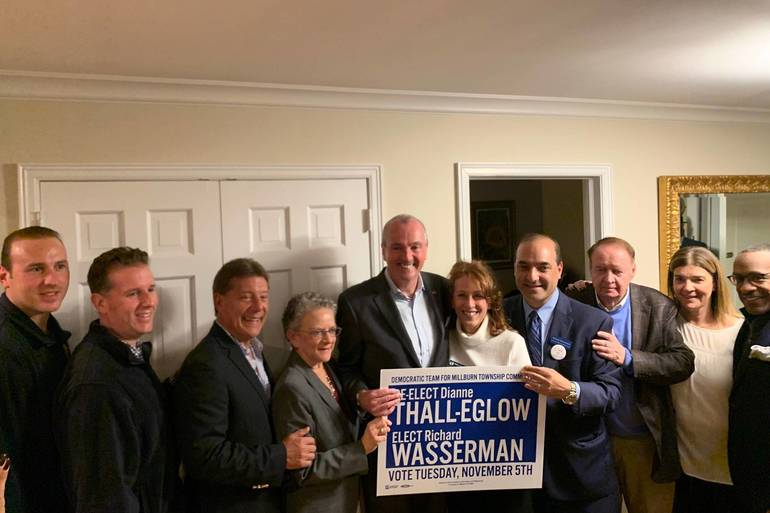 Governor Murphy with Eglow and Wasserman