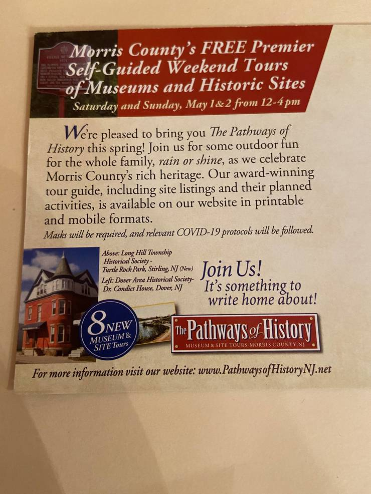 Chatham Township's 'Little Red Brick Schoolhouse' will be Part of Morris County's Pathways to History Guided Tour May 1 & 2