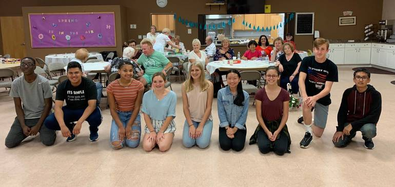 AP History Class Hosts Game Day at the Senior Center