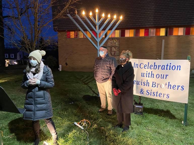 Fourteenth Lighting of Menorah at Faith Lutheran, New Providence, Live-Streamed