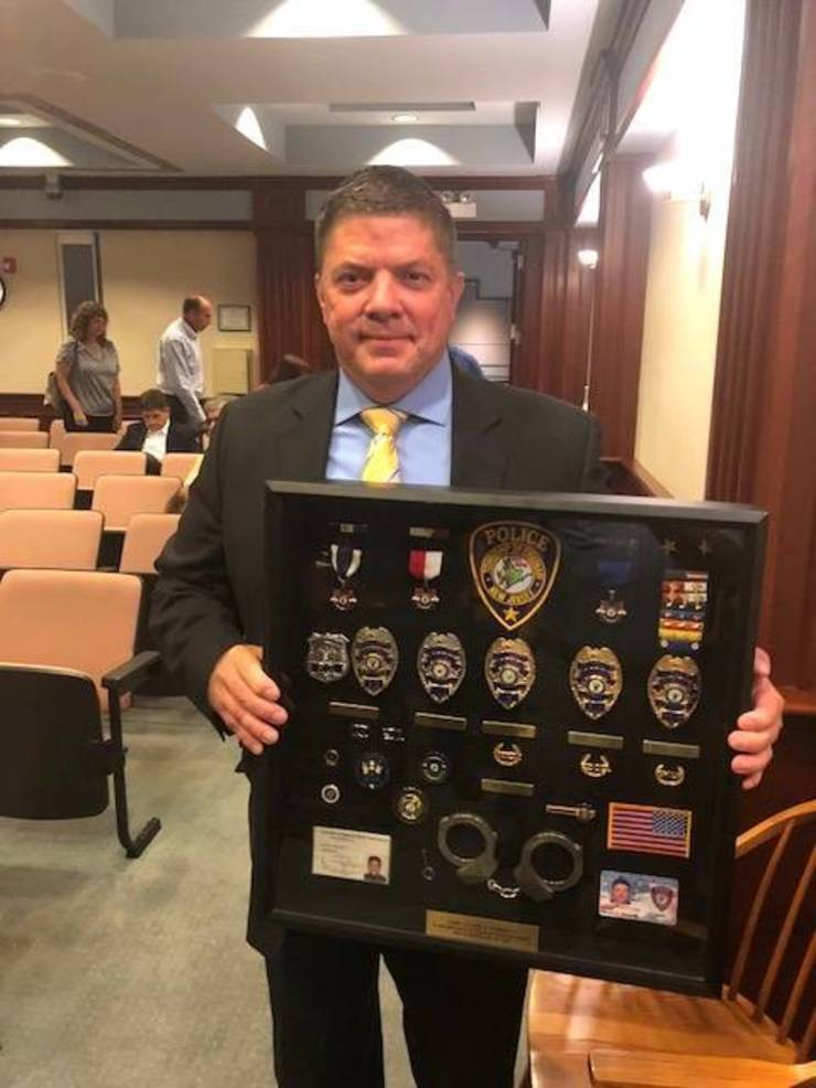 Chatham Township Committee Honors Police Chief Hennelly for 31 Years of Service