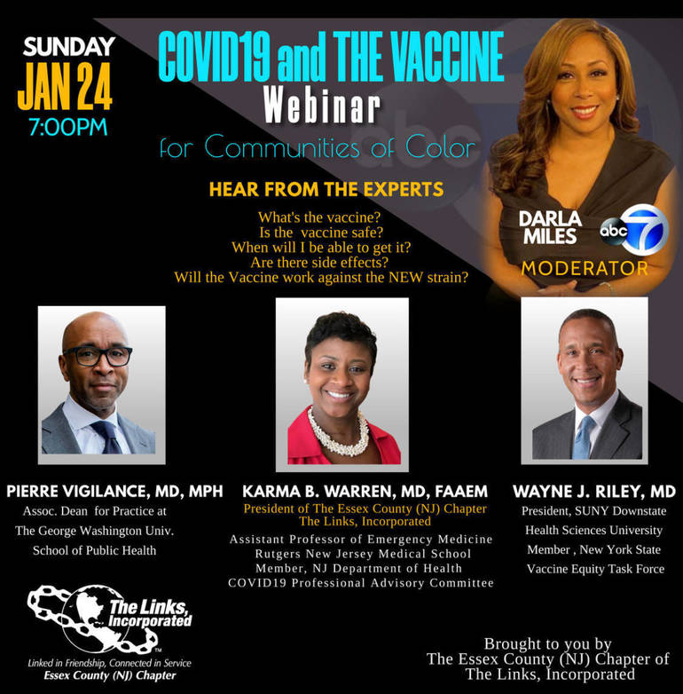 COVID - 19 Vaccine for Communities of Color Virtual Webinar
