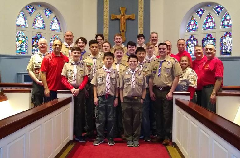Troop 104 Scouts and Adult Leaders