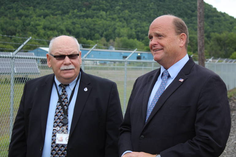 Olean Mayor William Aiello and Rep. Tom Reed