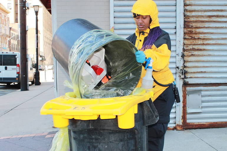 Newark Ambassadors Are Disinfecting the Downtown to Keep All Safe