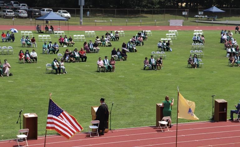 SPHS Class of 2020 Graduates In-Person on Jost Field