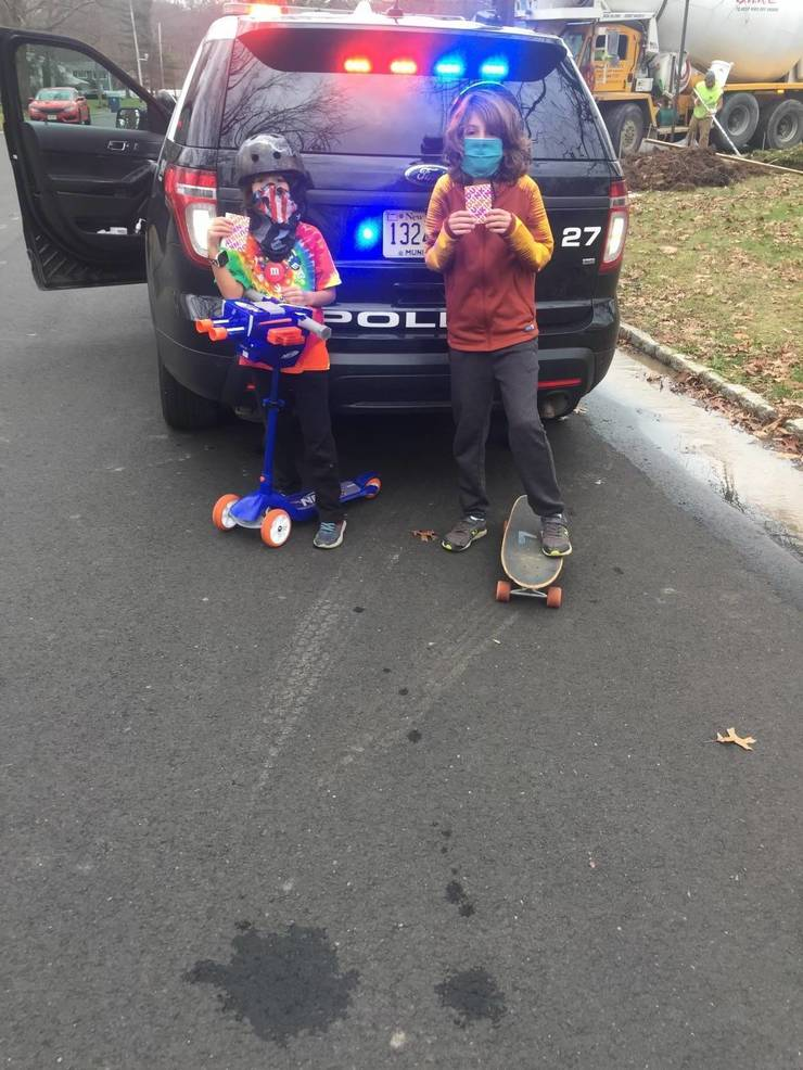 Kids Caught in the Act of Masking Up in Berkeley Heights!