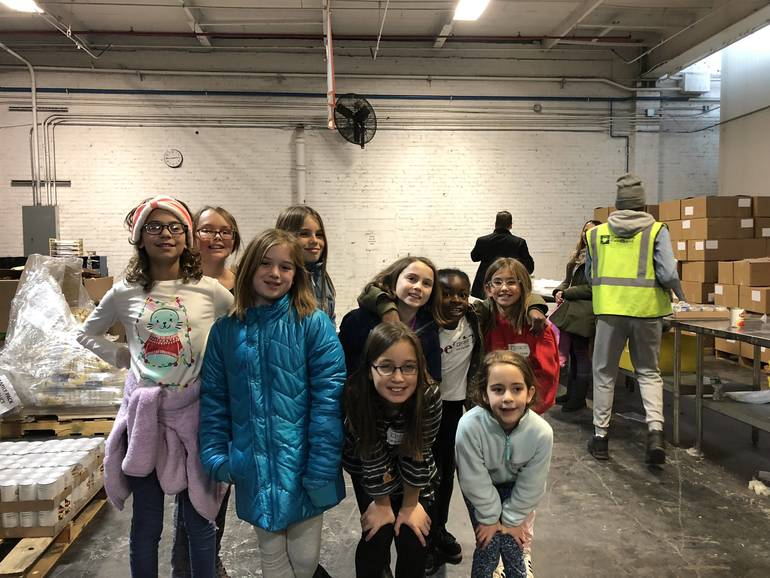 Berkeley Heights Girl Scouts Prepare Meals at Community Food Bank