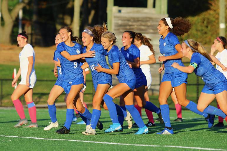 Scotch Plains-Fanwood celebrates around Lily Camacho #16