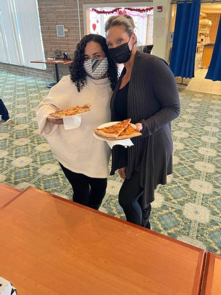 Comfort Keepers In-Home Care and Kindred Hospice Thank Care One Frontline Workers on National Pizza Day.