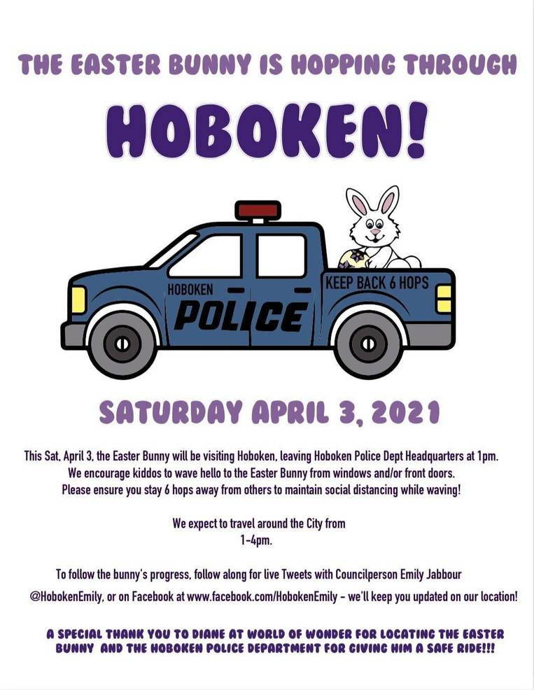 Hoboken Will Be Hopping Saturday as the Easter Bunny Comes to Town