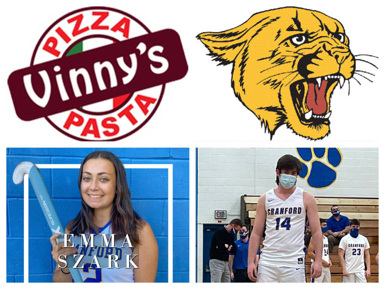 Vinny's Pizza & Pasta Cranford Senior Athletes of the Week: Emma Szark & Devin Haughey
